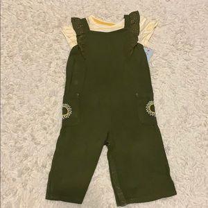 Girl Cat & Jack 2 piece jumpsuit